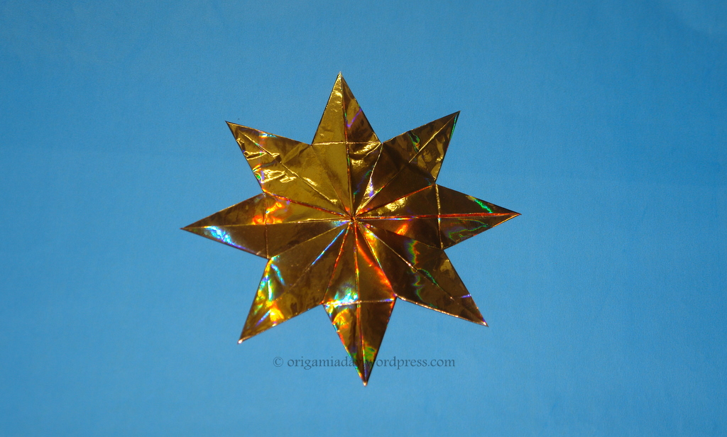 origami 8 pointed star instructions
