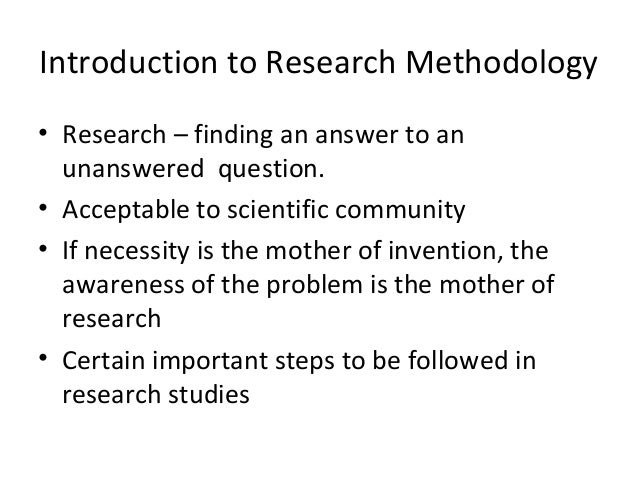 introduction to research and research methods pdf