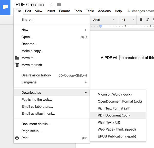 how to create password for pdf file