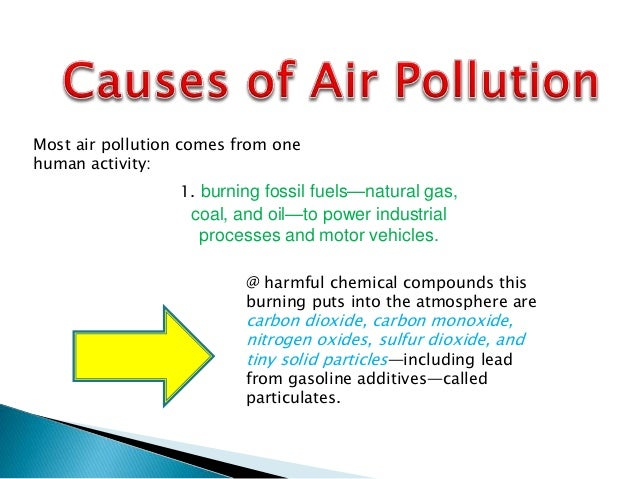 human activity that causes air pollution pdf