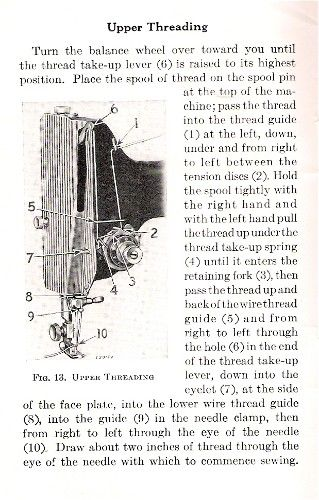 how to thread a singer manual sewing machine