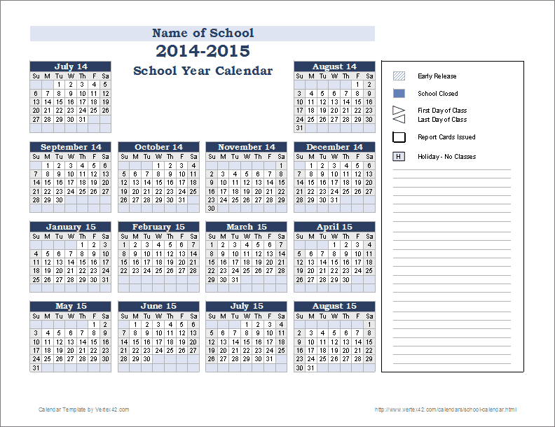 number of school days monthly school year 2018-2019 pdf