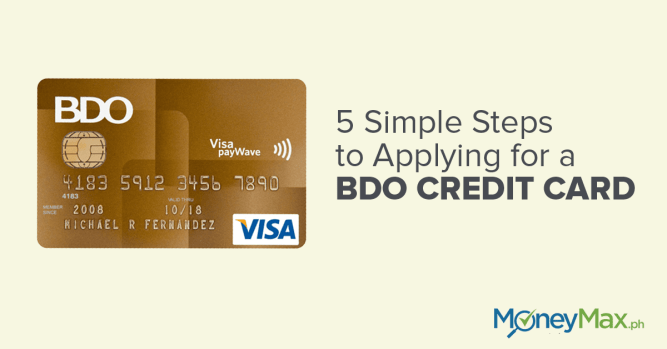 how to check application status for bdo credit card