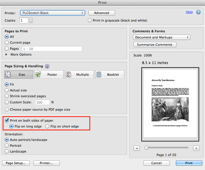 how to print back to back pdf on adobe