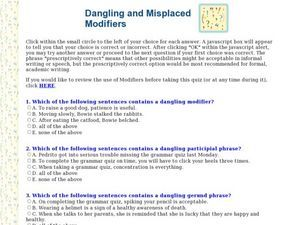 misplaced and dangling modifiers quiz with answers pdf