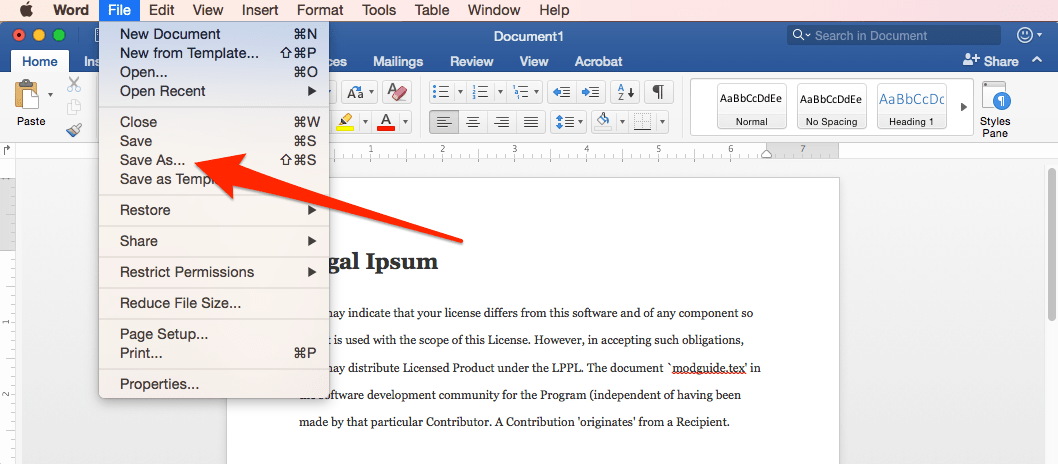 how to make the words in pdf blue