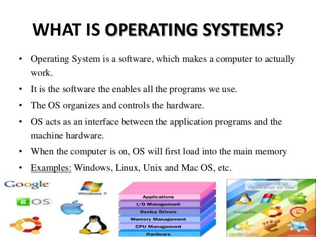 main application of operating system