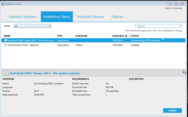 how install windows application right after installation