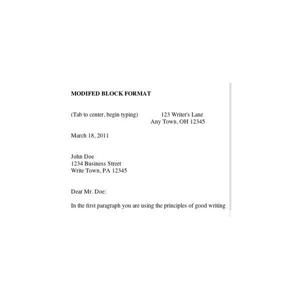 how to write college application letter semi block