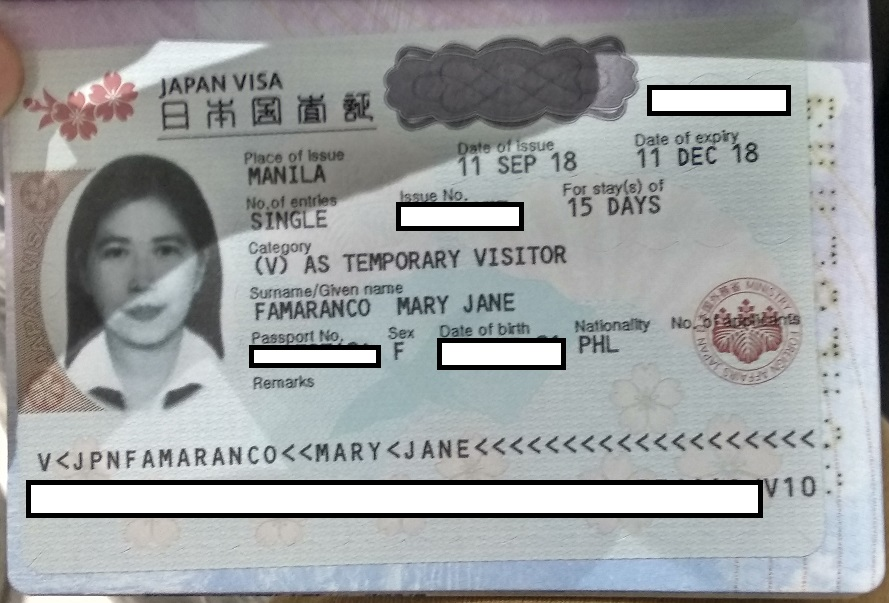 how many copy of visa application to japan