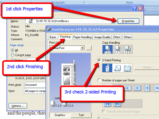 how to print 2 sided pdf