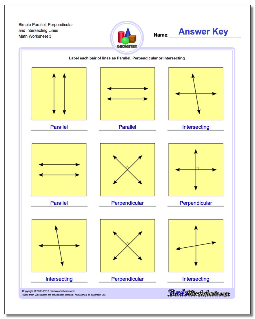 identifying parallel intersecting and perpendicular lines pdf