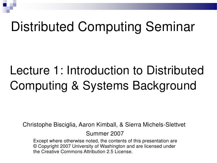 introduction to distributed system design pdf google