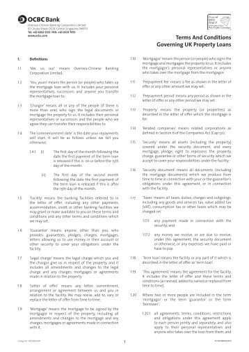 lending company terms and conditions