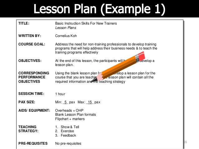 lesson objectives on application of word programs