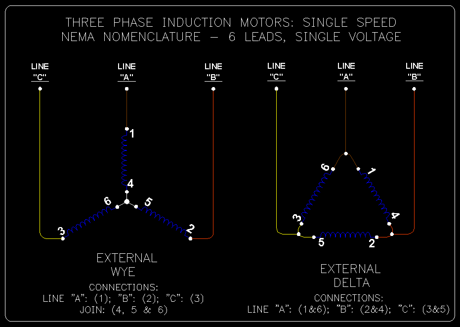 motor connection 6 leads star delta pdf