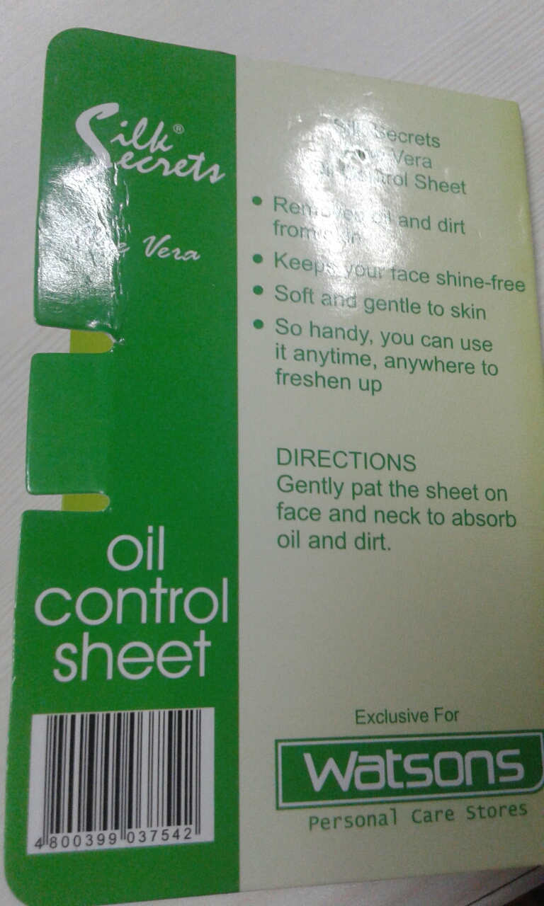 oil control sheet guide on getting