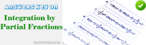partial fractions integration problems and solutions pdf